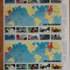 1991 Vintage US stamps: 1942 Into the Battle